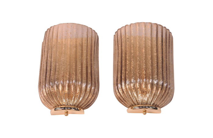 glass art deco sconces