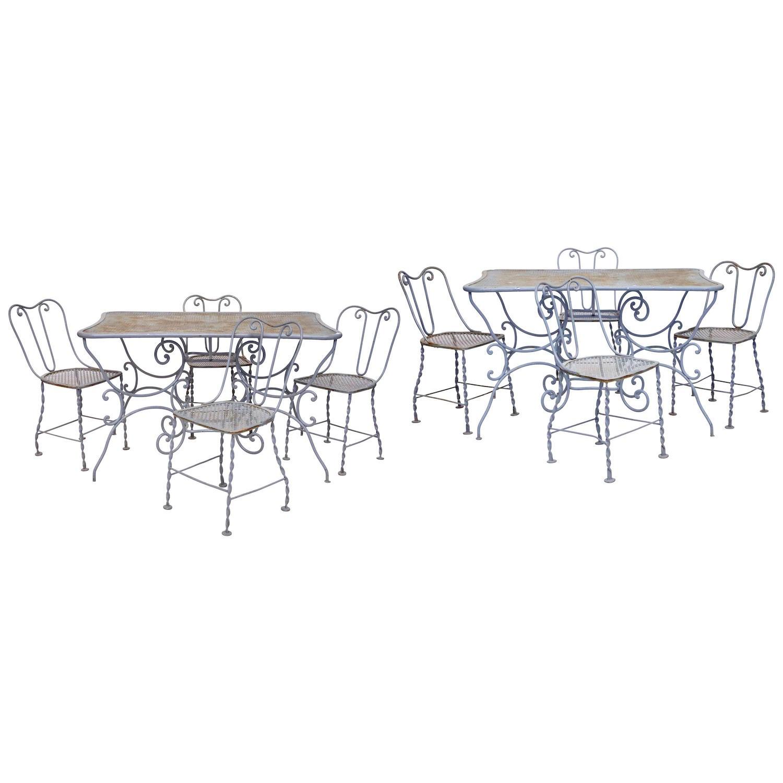 Garden furniture set wrought iron
