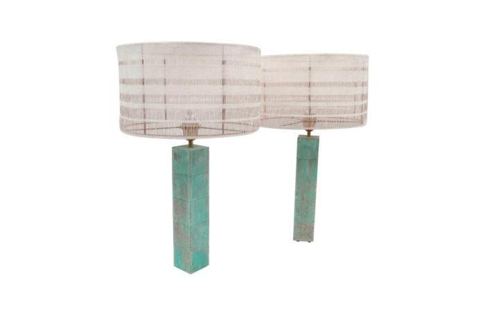 lampe cubes laiton