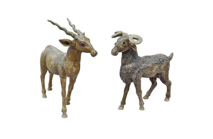 animaux bois sculpté
