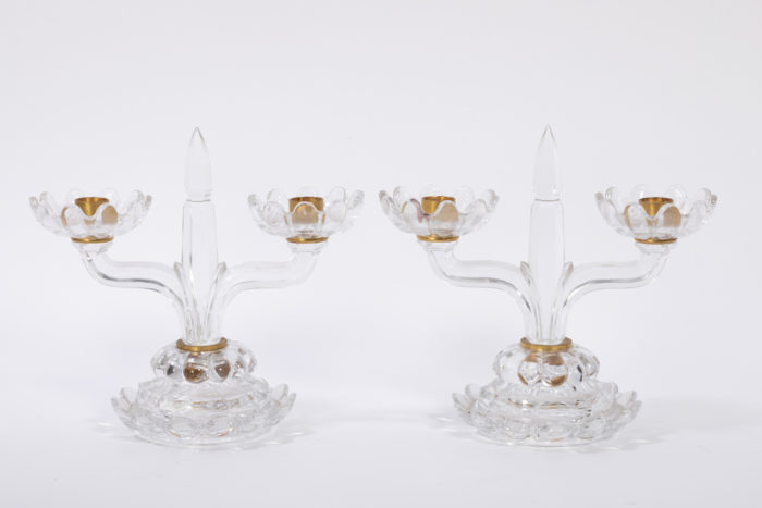 baccarat bougeoirs cristal