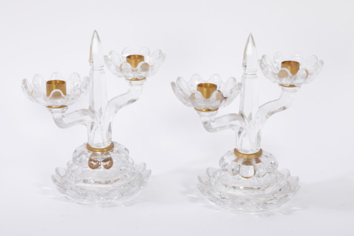 bougeoirs baccarat cristal