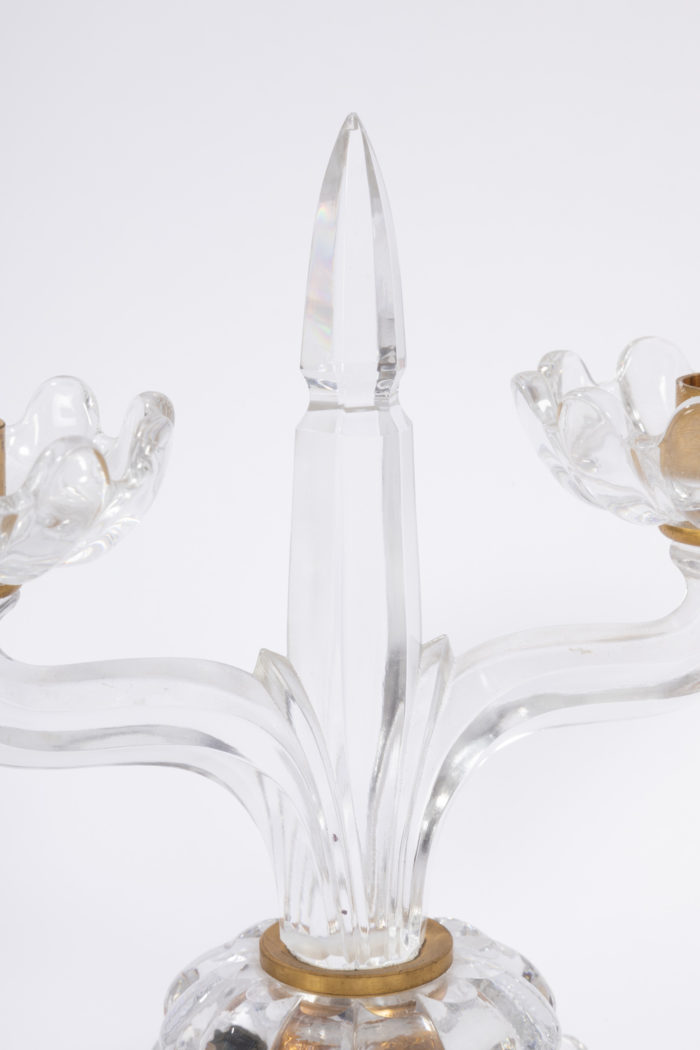 bougeoirs cristal baccarat fut poignard