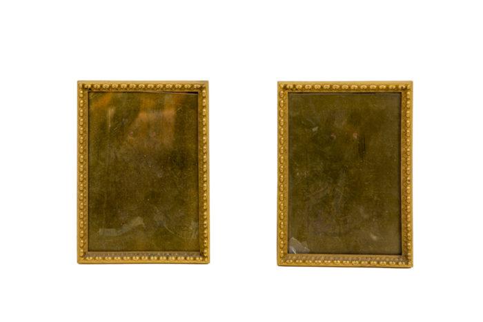 cadres bronze doré frise raies de coeur
