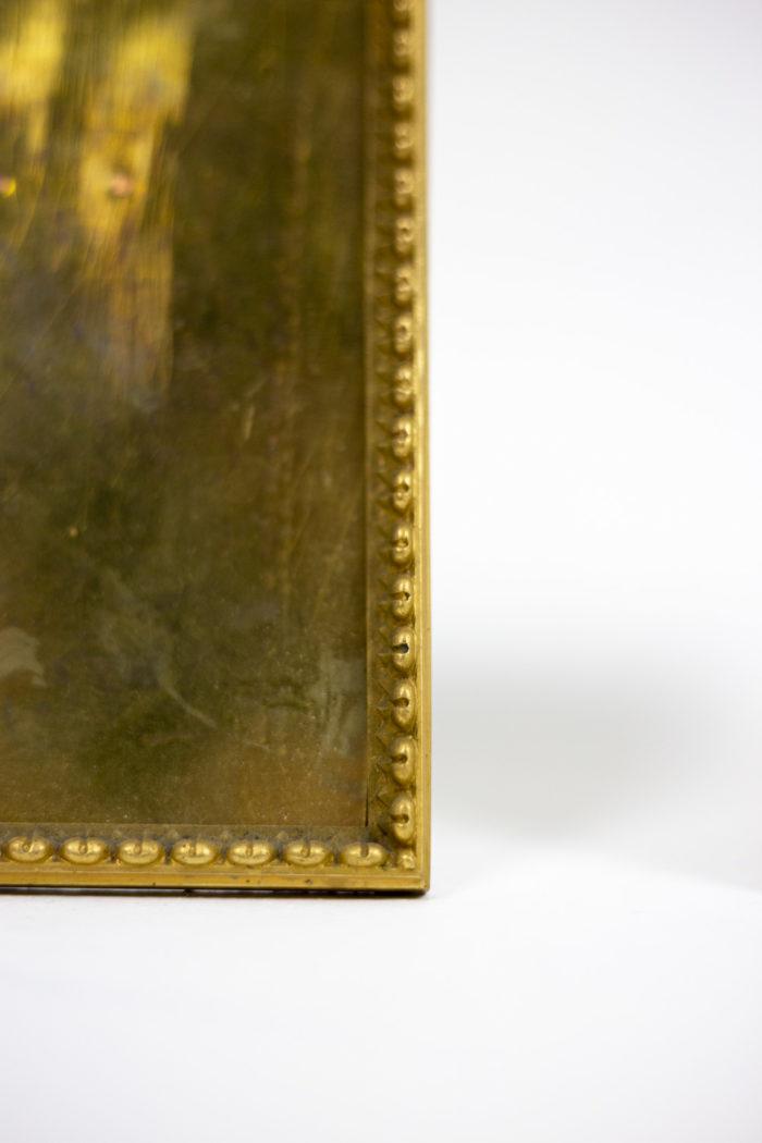 cadres bronze doré frise raies de coeur détail 2