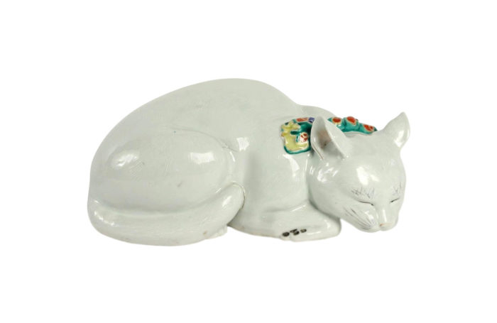 chat porcelaine canton