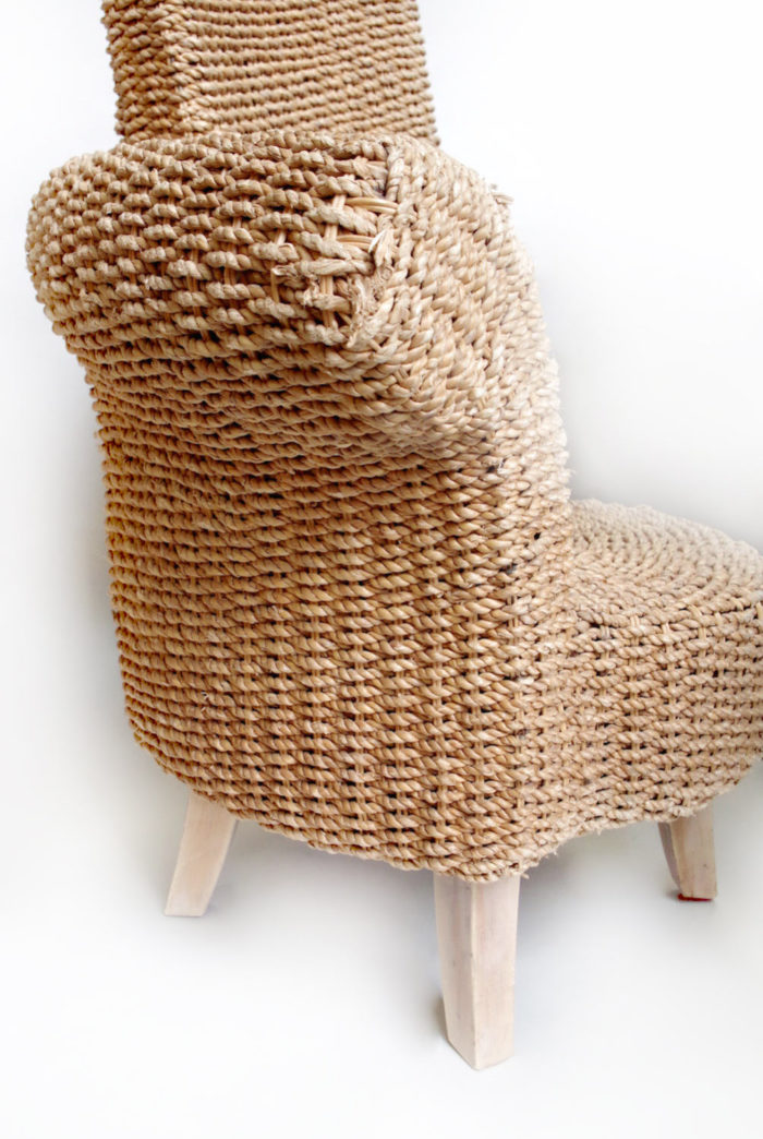 rope armchair one armrest arm support