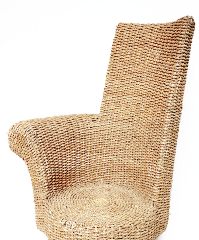 rope armchair one armrest details