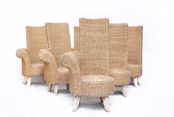 rope armchair one armrest set of 6