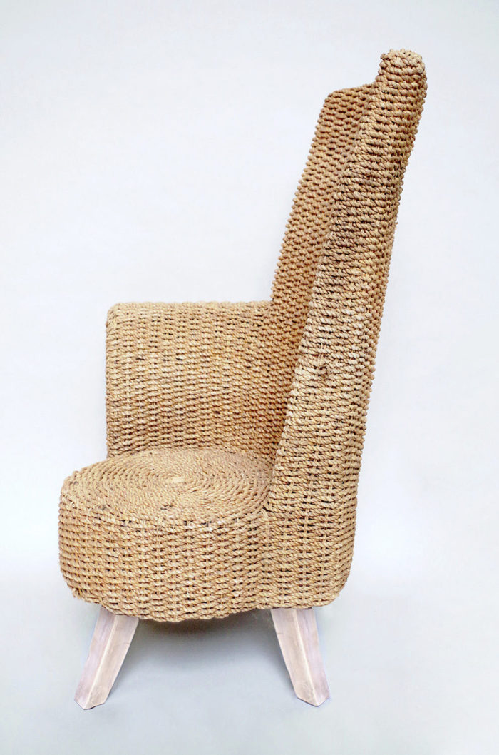 rope armchair one armrest side