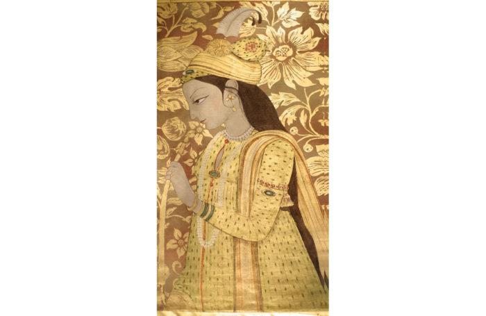 indienne toile de lin doré