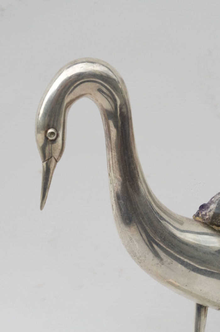 amethyst bird sculpture