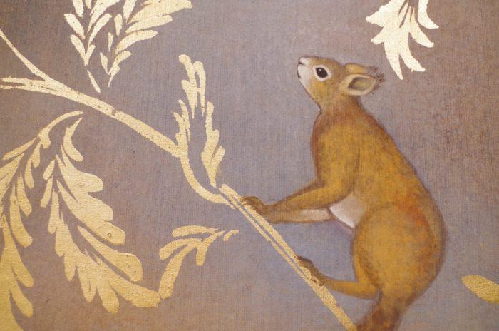 toile lin écureuil