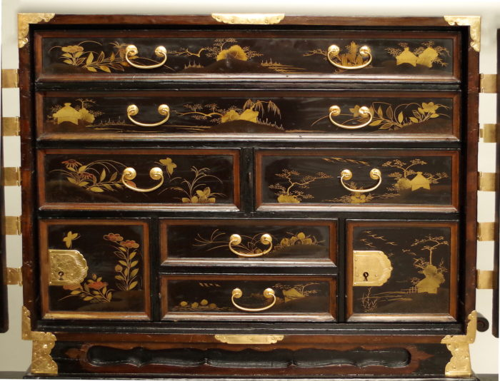black lacquer japanesecabinet
