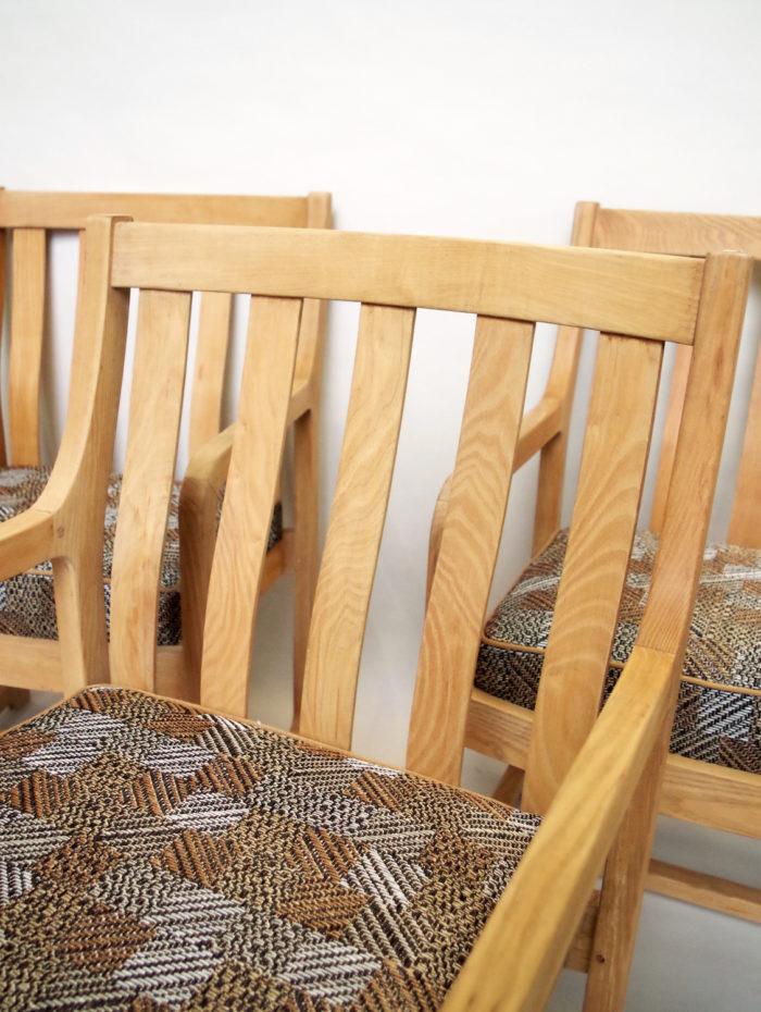 fauteuil chêne série de six