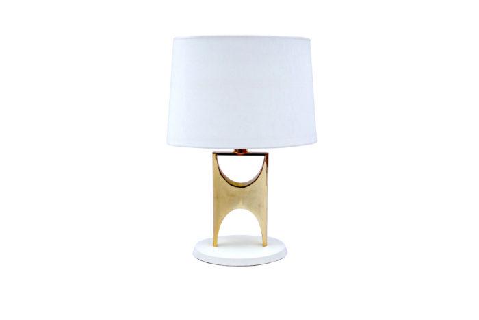 lampe H laiton doré