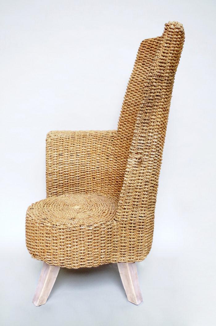 six fauteuils corde