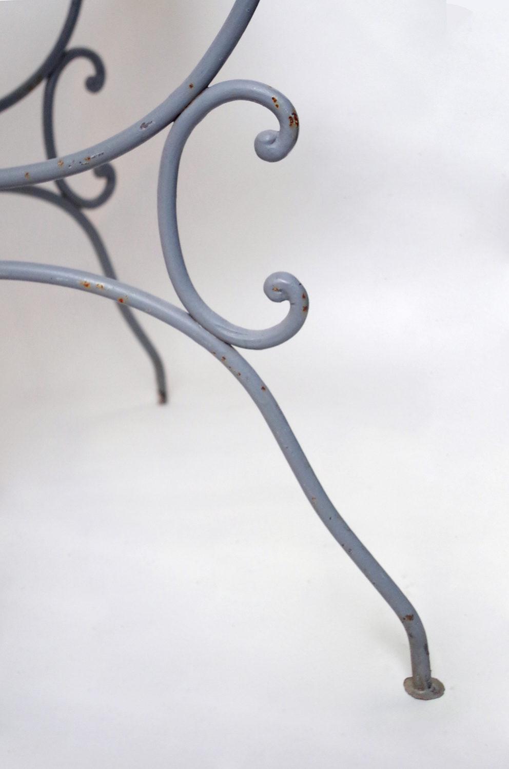 Ensemble de mobilier de jardin en fer forgé gris clair, 10 pièces ...