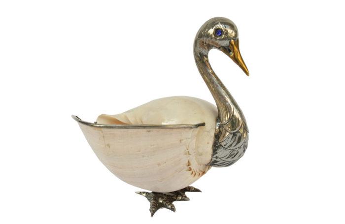 binazzi metal swan trinket bowl