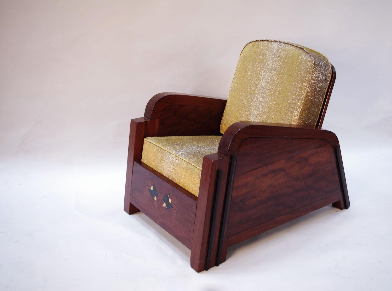 fauteuil art dco galuchat - Fauteuil Art Deco