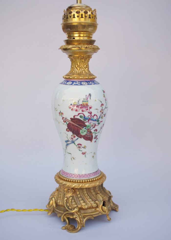 lampes porcelaine chinoise famille rose