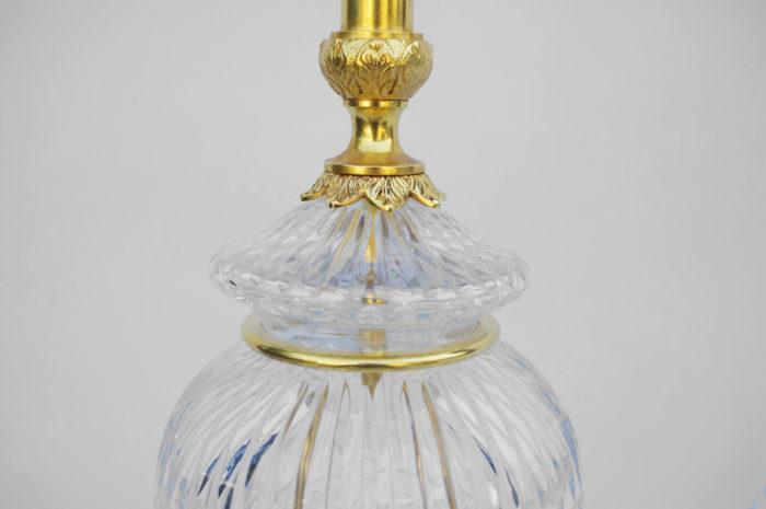 lampe cristal taillé bronze doré