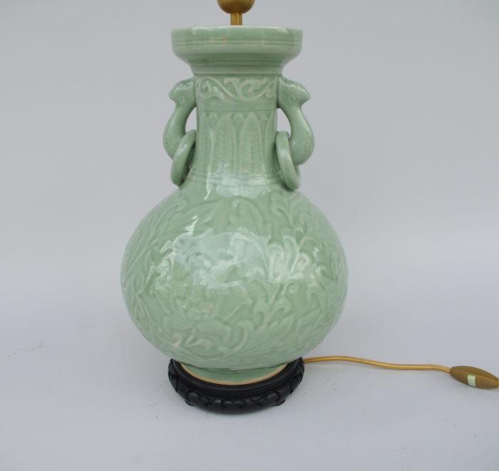 celadon porcelain lamp