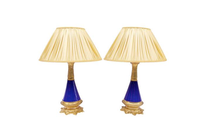lampes coniques bleues