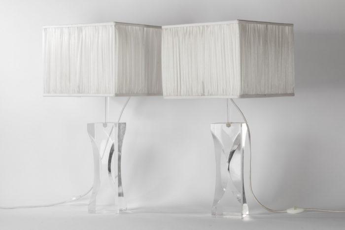 lampes plexiglass pans coupés