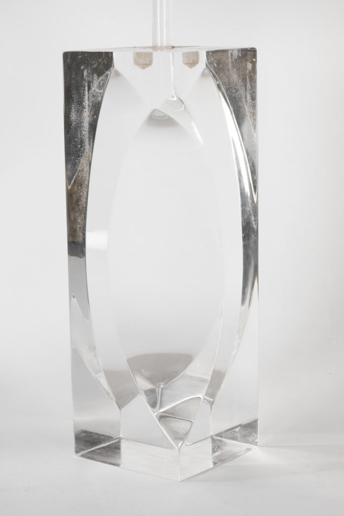 lampes plexiglass rectangulaires pans coupés