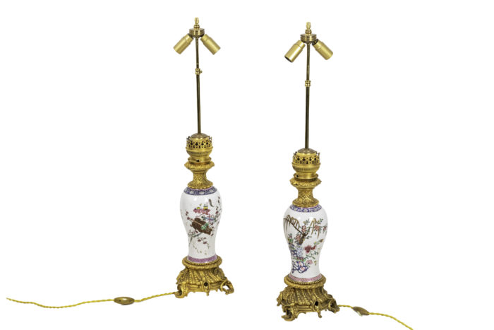 lampes porcelaine chinoise famille rose (2)