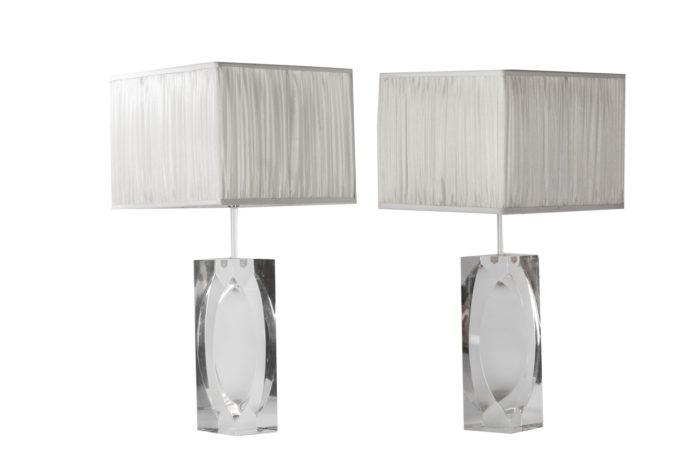 lampes rectangulaires plexiglass