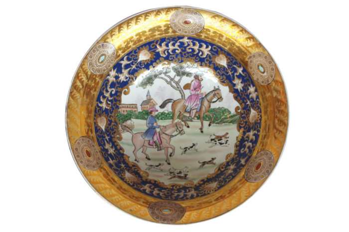 coupe porcelaine chasse chinois