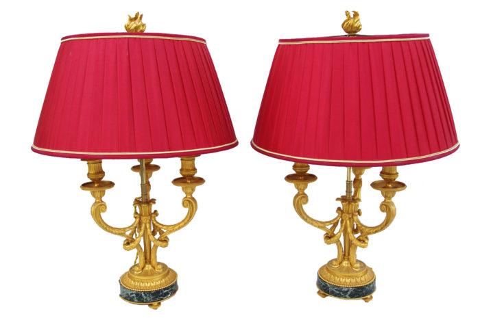 lampes bouillottes louis XVI