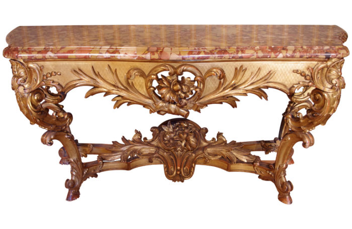 gilt wood louis XV console