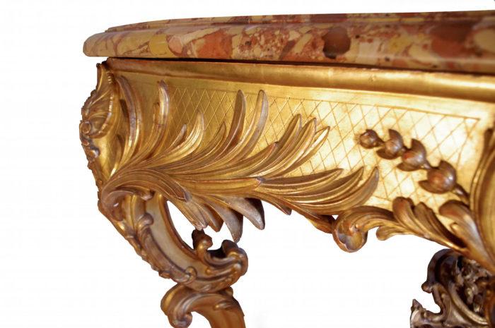 console apparat bois doré louis XV
