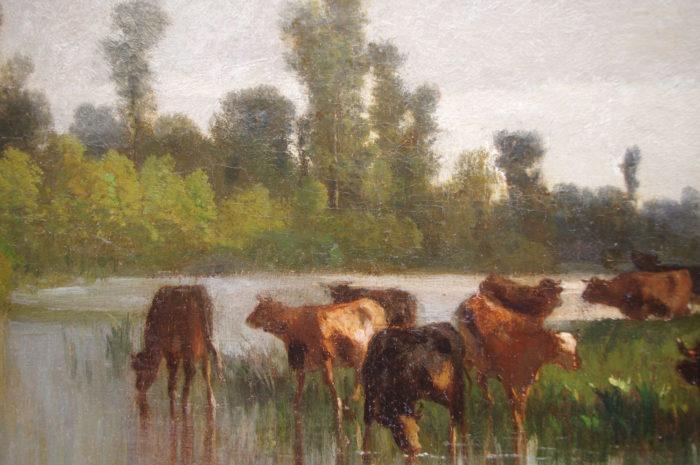 rural pastoral cortes peinture