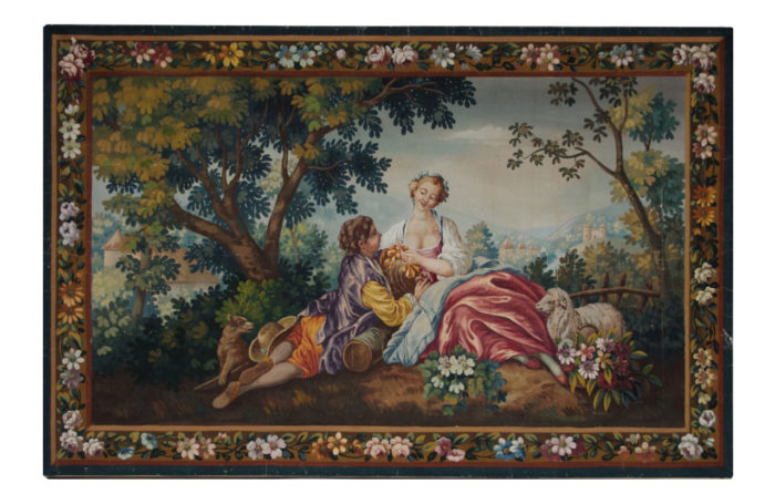 Aubusson style tapestry cartoon