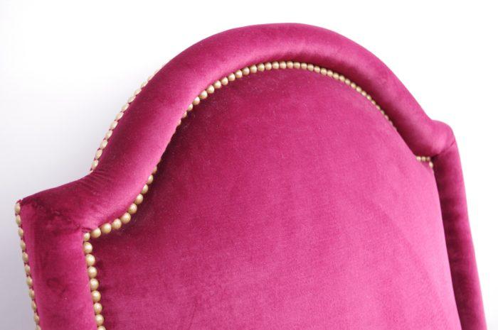 fauteuil velours louis XV