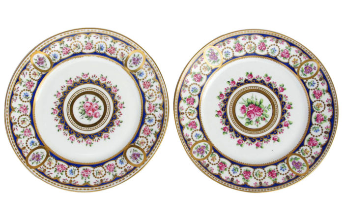 pair plates sevres rouard porcelain