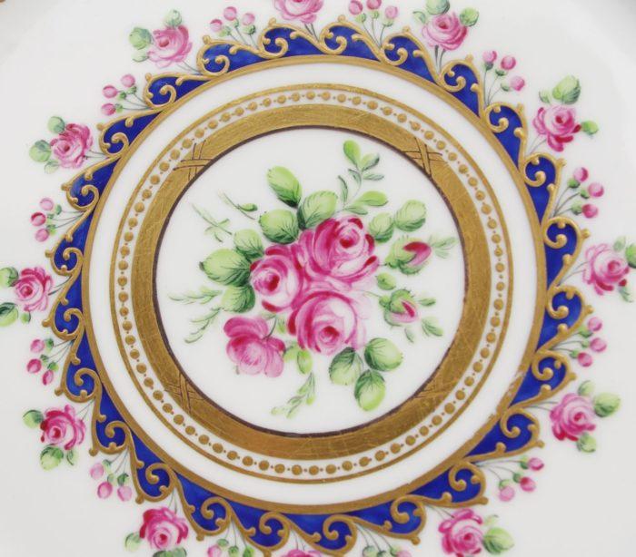 paire assiettes porcelaine rouard sevres