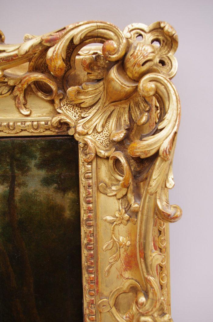 scene galante champetre cadre bois doré