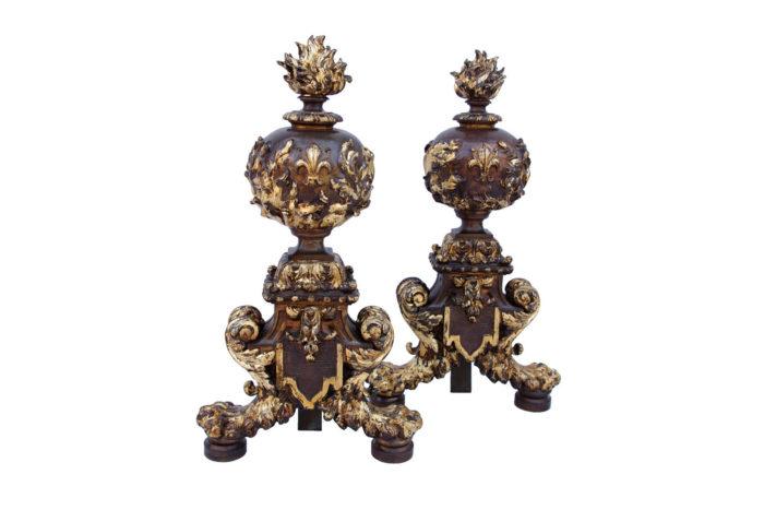 chenets renaissance bronze