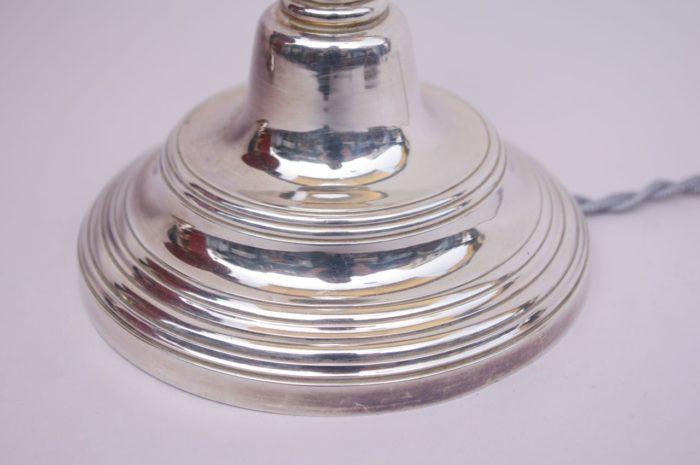 bougeoirs métal argenté louis XVI