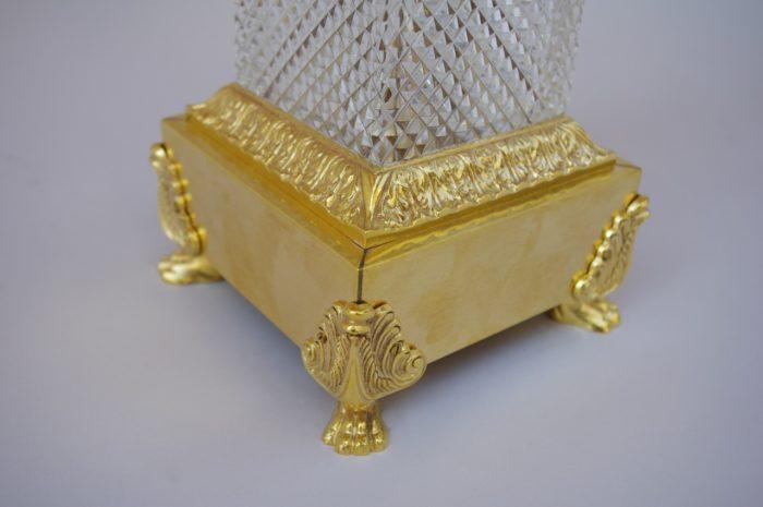 candélabre cristal bronze doré charles X