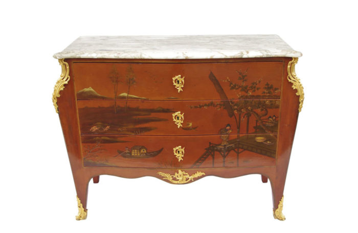 commode chinoisante bronze doré