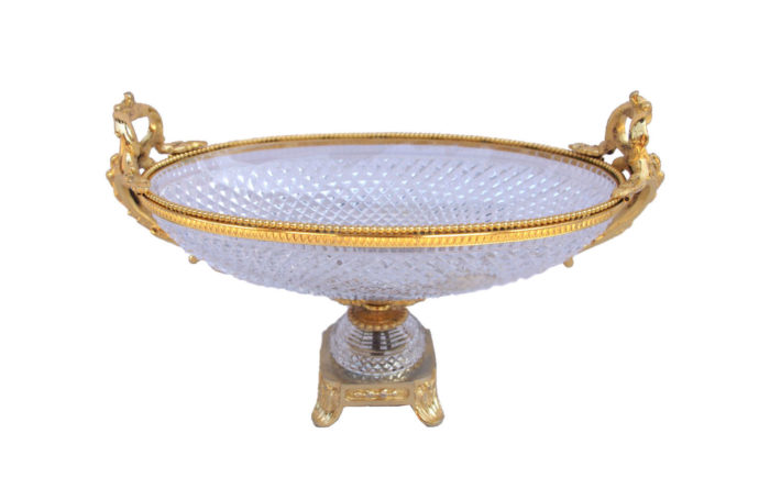 cut crystal oval cup