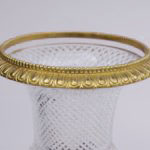 vase médicis cristal bord bronze doré