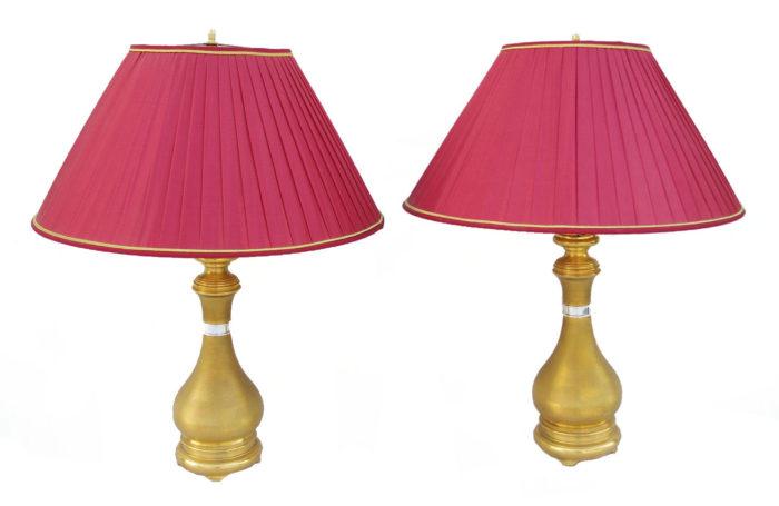 lampes laiton guilloché
