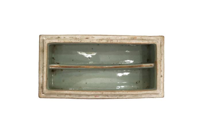 ls2562 boite canton porcelaine intérieur deux compartiments